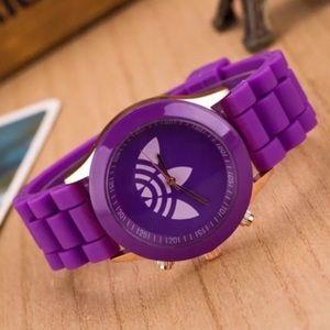 Unisex Purple Trefoil Sports Fashion Watch